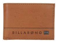 Billabong Vacant Bi Fold Antique Bi Fold Wallet Brown