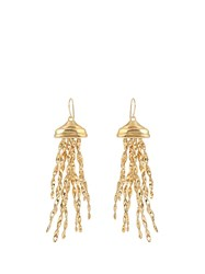 Aurelie Bidermann Theia Gold Plated Earrings Yellow Gold