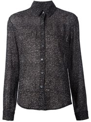 Beau Souci Tweed Print Shirt Black