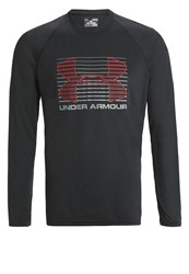 Under Armour Rise Up Long Sleeved Top Black Graphit Red