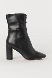 Handm H M Leather Ankle Boots Black