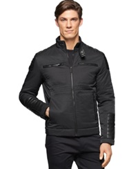 Calvin Klein Full Zip Motorcycle Jacket Black