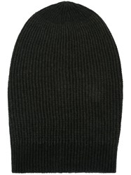 Rick Owens Large Slouchy Beanie Black