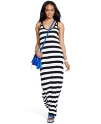 Polo Ralph Lauren Striped Racerback Maxidress Black