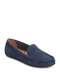 Aerosoles Over Drive Suede Moc Toe Drivers Navy Blue