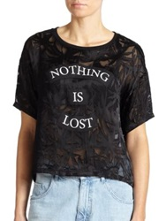 Each X Other Nothing Is Lost Burnout Tee Black
