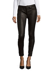 7 For All Mankind Gwenevere Textured Skinny Jeans Black Wax