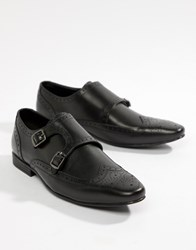 Kg By Kurt Geiger Two Buckle Monk Shoes Black