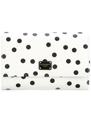 Dolce And Gabbana Polka Dot Wallet White