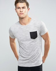 Bellfield T Shirt With Pocket Grey