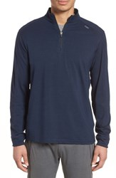 Tasc Performance Carrollton Quarter Zip Sweatshirt Classic Navy