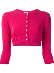 P.A.R.O.S.H. 'Seline' Cropped Cardigan Pink And Purple