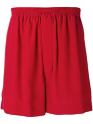 Rick Owens Loose Fit Shorts Red