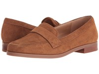 Franco Sarto Valera New Cognac Suede Women's Slip On Dress Shoes Tan