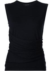 Derek Lam Knitted Round Neck Top Blue