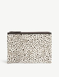 Mystique Animal Print Ponyhair Clutch Bag Dalmation