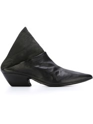 Marsa Ll Pointed Toe Panelled Mules Black