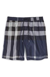 Burberry Men's Brit 'Gowers' Check Swim Trunks Ink