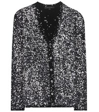 Marc Jacobs Sequin Embellished Cashmere Blend Cardigan Black