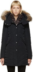 Parajumpers Midnight Blue Fur Trimmed Angie Coat