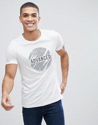 Tom Tailor T Shirt With Reverse Sequin In White 2000 White