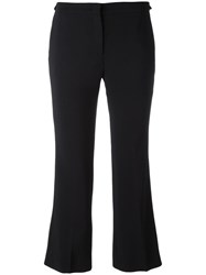N 21 No21 Cropped Flared Trousers Black