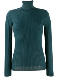 M Missoni Slim Fit Turtleneck Jumper Blue