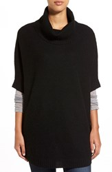 Women's Nordstrom Cashmere Turtleneck Sweater Black