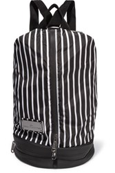 Adidas By Stella Mccartney Striped Shell Backpack Black