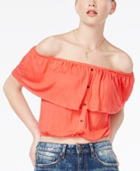 American Rag Juniors' Cropped Off The Shoulder Top Only At Macy's Cayenne