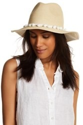 David And Young Pompom Panama Hat Beige
