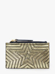 Boden Leather Star Coin And Card Holder Gold