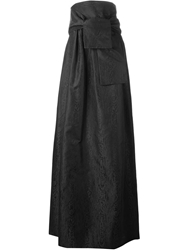 Dsquared2 Wrap Style Front Maxi Skirt Black