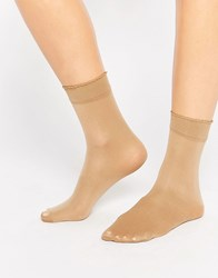 Gipsy Luxury Ankle High Two Pack Socks Camel Brown