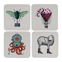 Gangzai Arti Coasters Set Of 4 Scaphopoulp Elephant'r