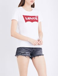 Levi's The Perfect Cotton Jersey T Shirt Large Batwing White