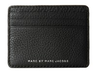 Marc By Marc Jacobs Classic Leather Credit Card Case Black 2 Credit Card Wallet