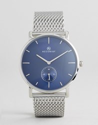 Accurist 7126 Mesh Watch In Silver