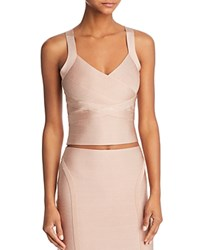 Guess Mirage Cropped Top Rugby Tan