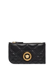 Versace Icon Quilted Leather Card Holder 60
