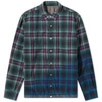 Sacai Check Shirt Green