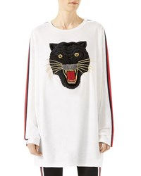 Gucci Oversized T Shirt With Panther Multi