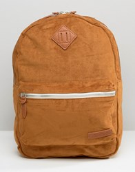 Pull And Bear Pullandbear Sueduette Backpack In Camel Leather Tan