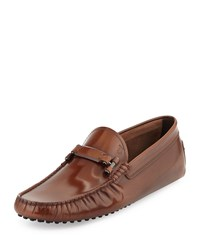 Tod's Leather Bit Strap Driver Brown