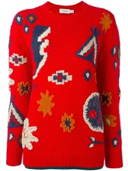 Coach Multi Patterns Sweater Red