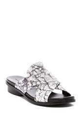 French Connection Basia Marbled Sandal Black
