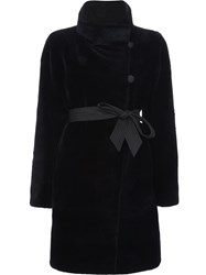 J. Mendel Sheared Reversible Coat Black