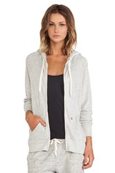 Ever Dakota Thermal Lined Zip Up Hoodie Gray