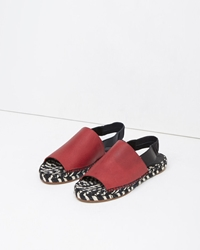 Proenza Schouler Leather Slingback Espadrille Red