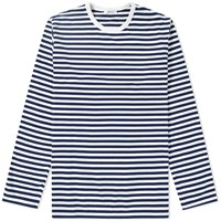Nanamica Long Sleeve Coolmax Stripe Tee Blue